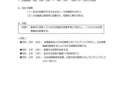 行動計画(令和元年8月~令和4年7月)